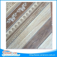 New wooden copy with flowers tiles design for house decoration from China market