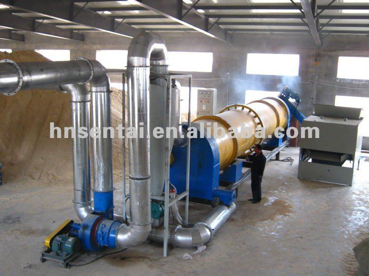 Supply small rotary sawdust dryer for wood waste use