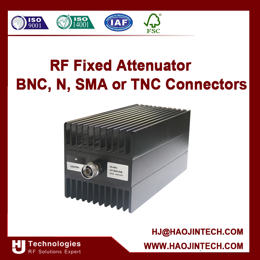 DC to4,6,8GHZ , RF 200W Attenuator Manufacturer