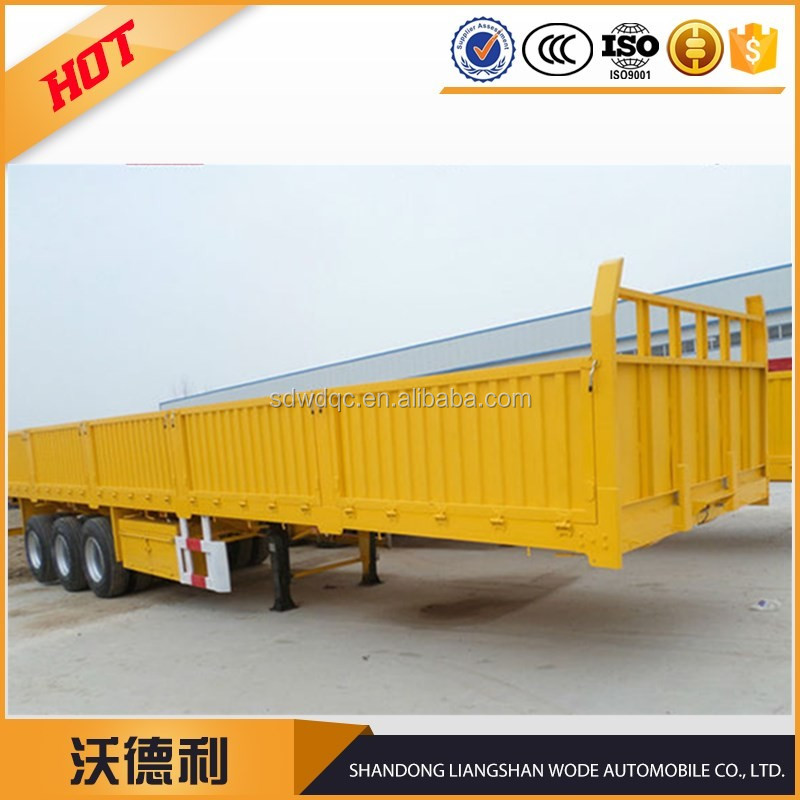 3 axle fence semi trailer , fence side wall semi trailer transport bulk cargo and animals