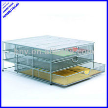 3 floors sturday office metal wire organizer stationery cabinet mesh file tray drawer