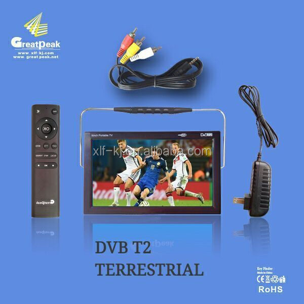 Portable 9inch DVB T2 TV For Russia Market