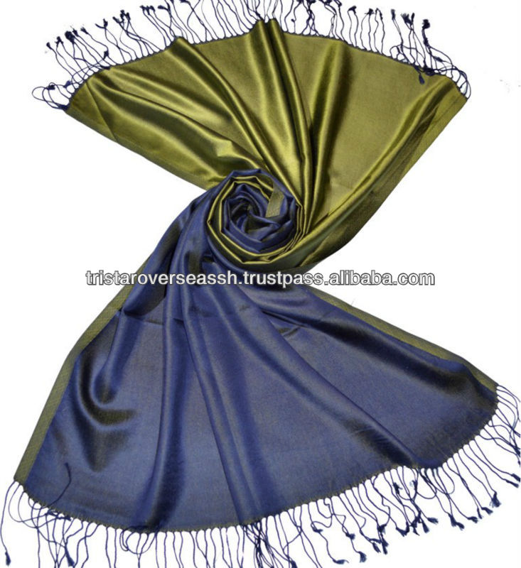 Authentic 100% Silk two tone silk shawls scarves stoles
