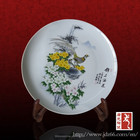 Ancient style excellent quality birds and flowers decorative souvenir ceramic plates for collection