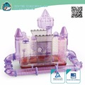 new premium rectangle Plastic Dream Castle Small Animal Cages Hamster Cage,moat tube