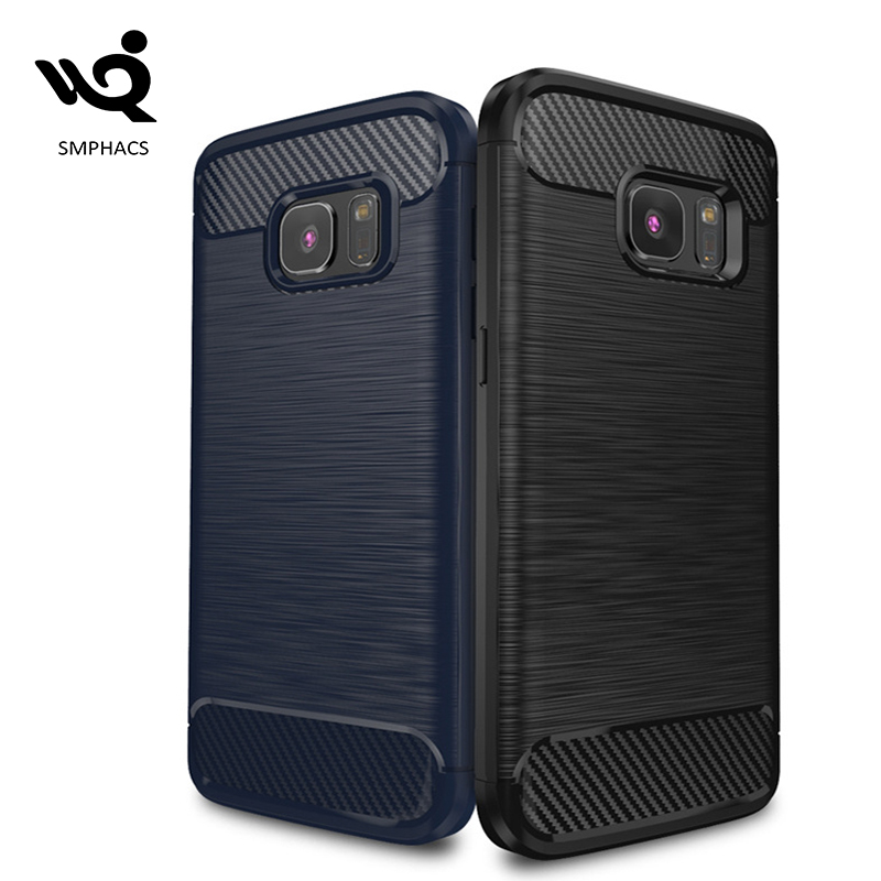 2017 Trending Products Carbon Fiber Grain <strong>Case</strong> For Samsung Galaxy S7 Edge