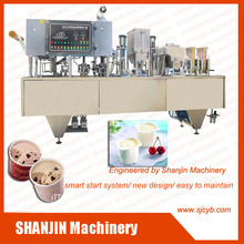 Good character fully-automated ice cream cup filling sealing machine