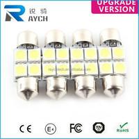 31MM 4 SMD 5050 BLUE LED FESTOON INTERIOR DOME LIGHT LAMP BULB 3022 3175