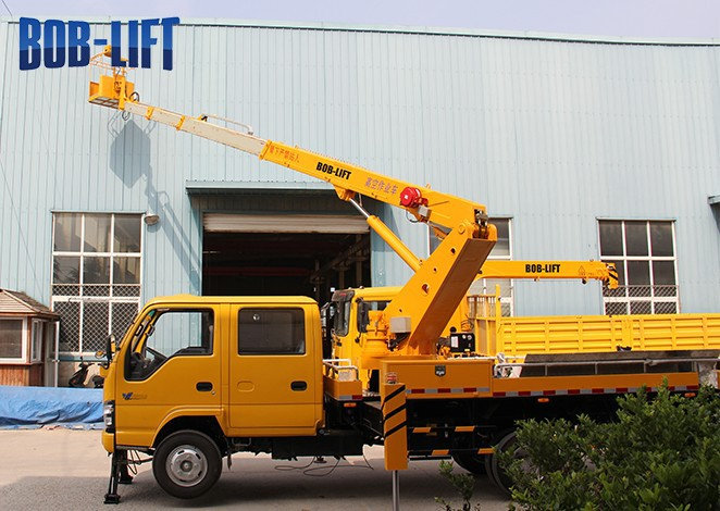 Hydraulic Boom Lifts For Pickups : Hydraulic boom man electric aerial lift truck for sale