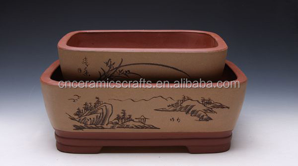 ceramic bonsai flower pot purple sands bonsai pot terracotta bonsai pot