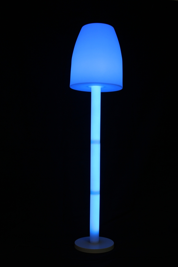 Color changing rechargeable 190cm HIGHT big stand lamp for both indoor and outdoor