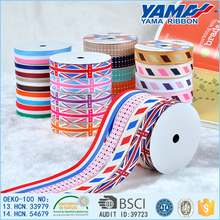 Custom high quality wholesale printed country flag ribbon