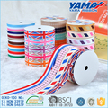 Custom printed single face country flag patterned grosgrain ribbon