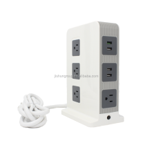 China Factory QC 3.0A USA Electricl Standard Grounding 110V Intelligent Multiple AC Extension Smart USB Power Socket with Fuse