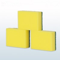 wholesale kitchen cleaning scourer nylon mixed polyester sponge scouring pads