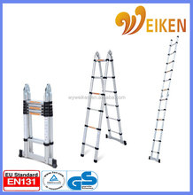 aluminium a-shaped ladder double side step telescopic ladder