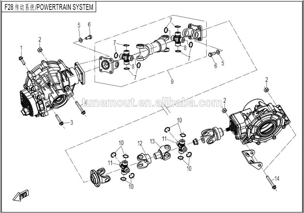 Cfmoto 800cc Atv Spare Parts Transmission System
