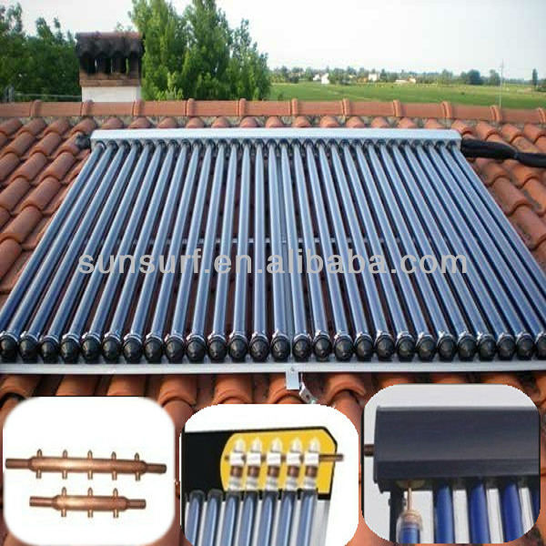 SunSurf SC-C01 SRCC Keymark Heat Pipe Hot Water Solar Home System Collector