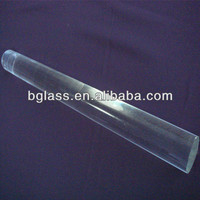 China clear 3.3 Expansion high borosilicate 3 to 45 mm glass rod