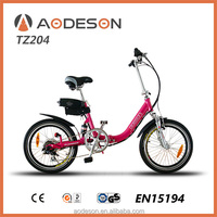 2014 popular Folding electric bicycle TZ204,fashionable style and cheap price,brands of spare parts
