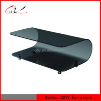 Newest Bent Glass Center Coffee Table