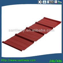 Chinese red high quality soundproof colorful corrugated galvanized metal tile roofing sheet