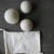 7cm white color wool felt dryer wool balls organic laundry