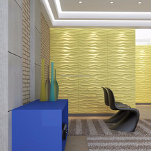 Eco-friendly material pvc building material decor 3d wave board for walls