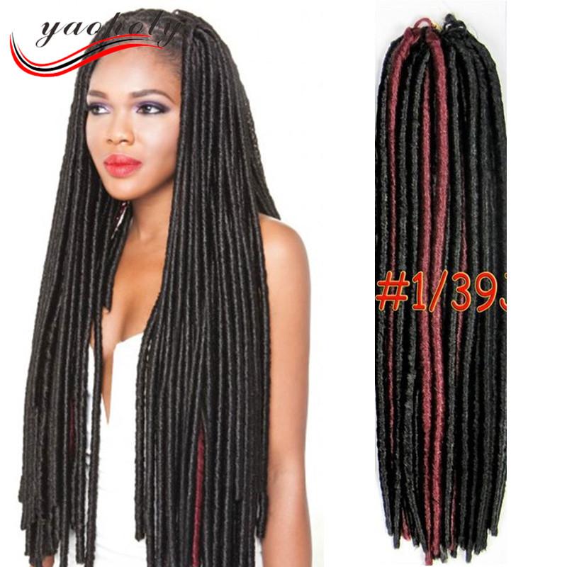 Hot Selling Multi Color Faux Locs Braids Crochet Braids Hair Havana