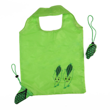 reusable foldable nylon polyester shopping bag large capacity with pouch