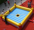 Automatic and manual switch bull fighting game base/best sale inflatable bullfighting arena;