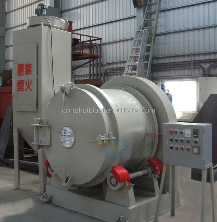 high quality rotary barrel shot blasting machine / rolling drum electric sandblaster manufacturers