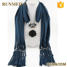 Latest Hot Selling Wholesaler Pendant Scarf Necklace
