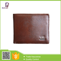 Metal Logo PU Leather Men's Wallet Bifold Smart Business Man Wallet