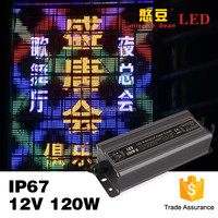 CE Rohs IP67 Outdoor 12v 10 amp power supply for LED light
