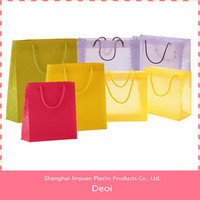 OEM factory and customized durable pp plastic personalized shopping gift bags