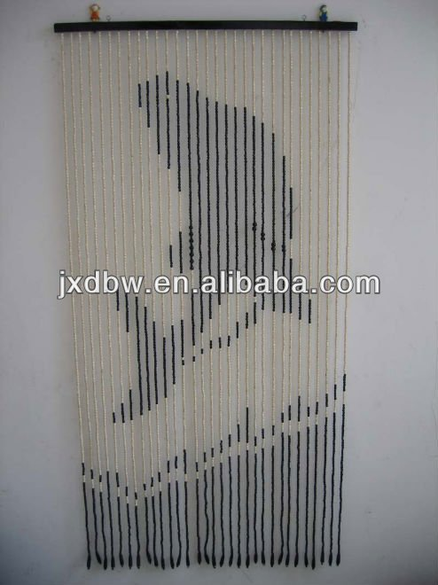Hanging Design Divider Wood Beaded Curtain
