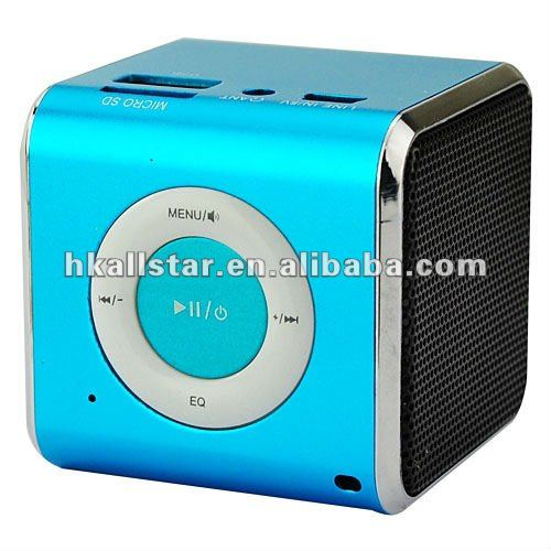 Rechargeable MP3 Player Speaker Support FM / TF / USB / 3.5mm Audio for kids