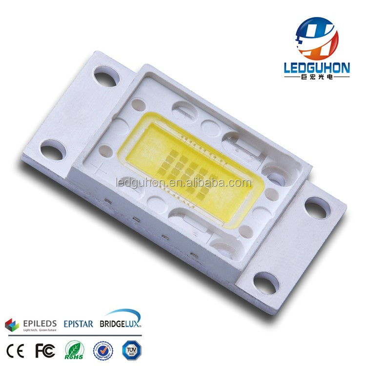 high quality 20 watt led chip with 6000K white color
