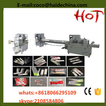 spoon fork knife and facial tissue automatic packaging machine with counting parts
