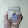 240ml 8oz octagon clear glass honey jar with metal twist off cap