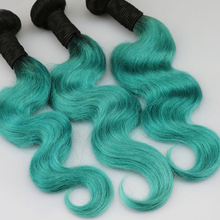 custom different color popular India virgin remy green human hair weave extensions