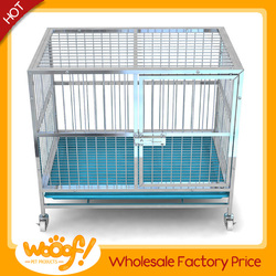 Hot selling pet dog products high quality dog cage with wheels