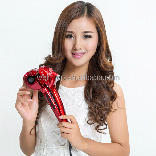 Wholesale Hotsale Hair Salon Equipment Professional Steamer magic Rotating Curling Iron Digital Display Automatic Hair Curler