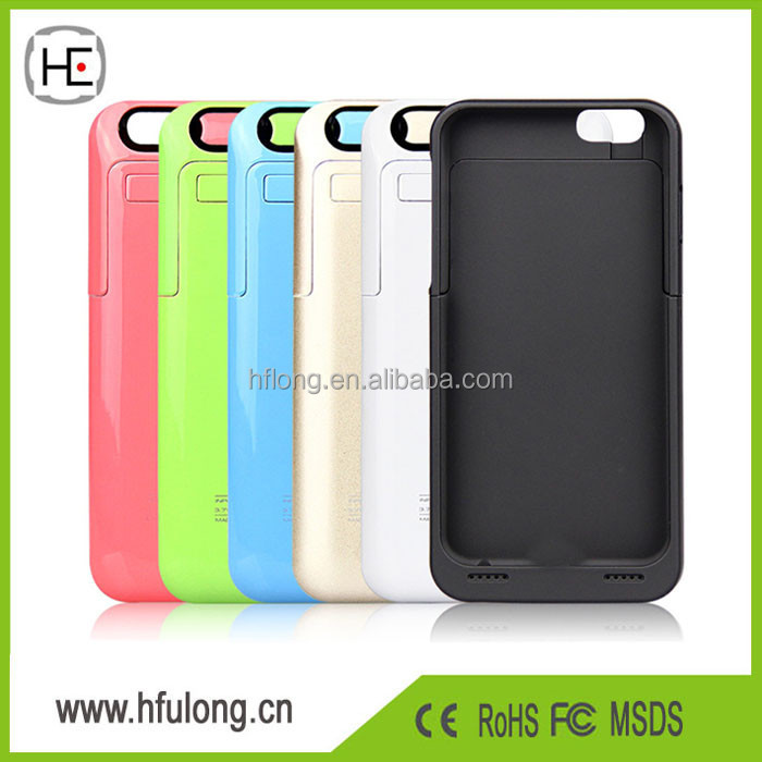 3500mAh Battery Charger for iPhone 6 Portable Backup Power Charger Bank Case Pack Battery Case Eight Colors PayPal Accept