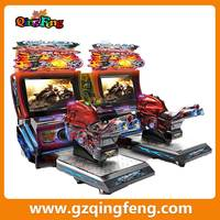 Qingfeng arcade machine coin pusher type motor car driving game machine electronic motorcycle racing game machine for sale