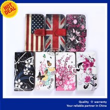 Flip leather case for xiaomi mi4i with custom print, Wallet card stand flip leather case cover from China supplier wholesale