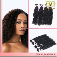 2014 indian hair bundle 30 inch cheap remy kinky curly hair extensions color #51 remi hair weave