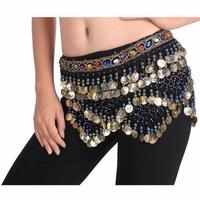 2016 Sexy Women Belly Dance Hip Scarf Wholesale 328 Coins Dance Chains Belt for Sale