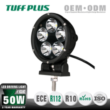 4 inch Emark professional round 50w led auxiliary driving light/ 12V/24V flood&spot trucks offroad UTE ATV SUV